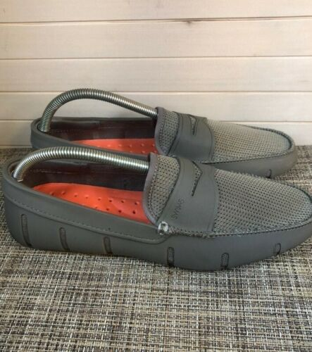 Swims Gray Loafer Boat Deck Shoes Mocs