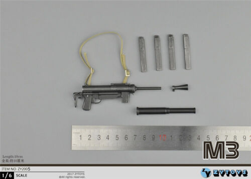 ZYTOYS ZY2005 1//6 WWII US Army M3 Submachine Thompson Miniature Gun Weapon Toy