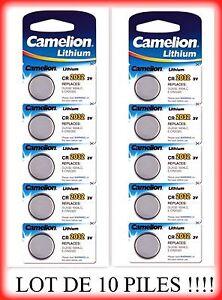 Lot-de-10-piles-boutons-CR2032-3V-camelion-livraison-rapide-et-gratuite