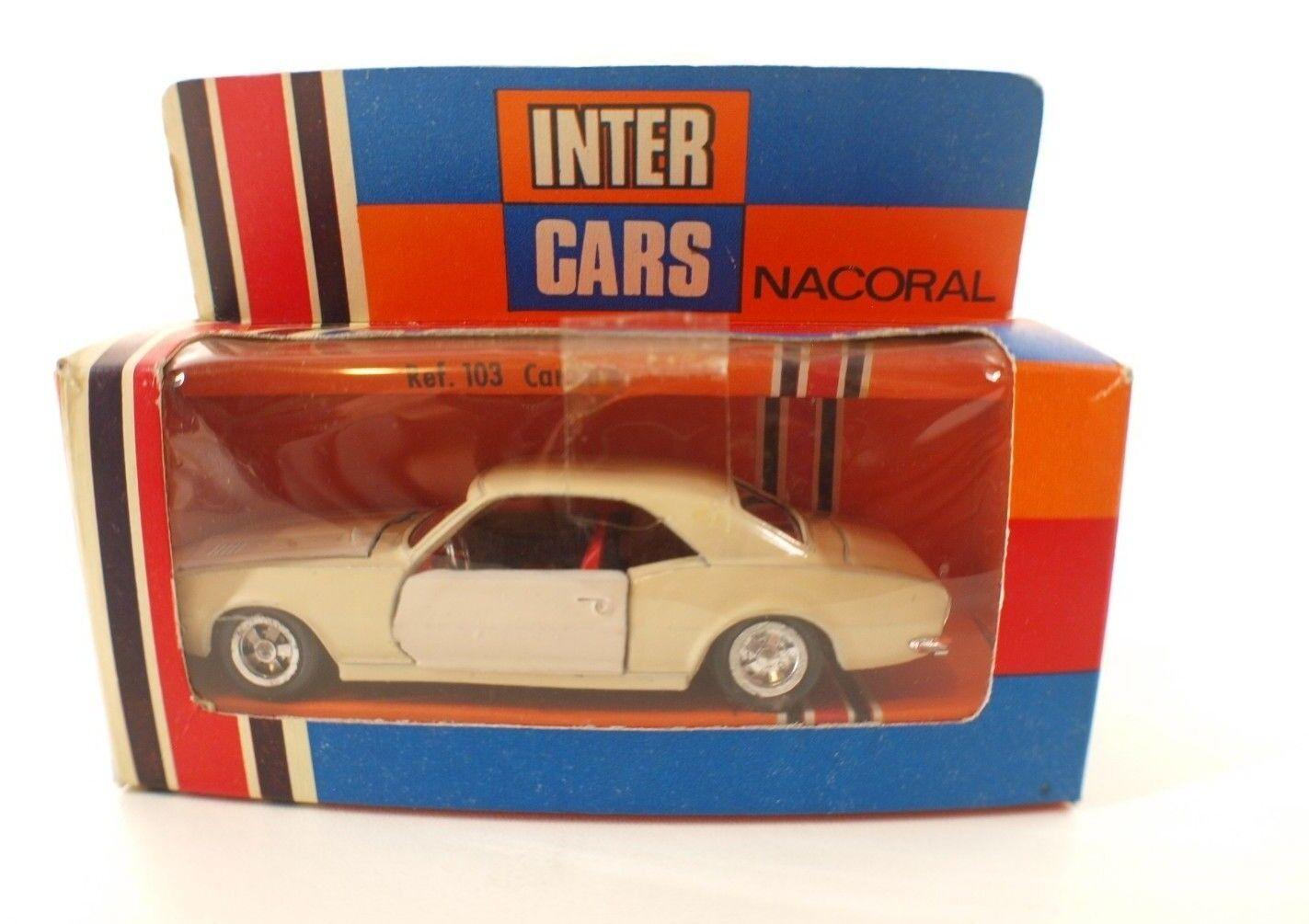 Nacoral unter autos espagne n ° 103 camaro chevrolet 1   43 en boite