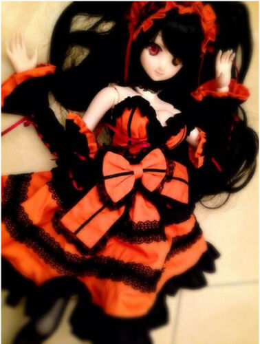 Date a Live Tokisaki Kurumi 1//3 DD Wig Dress Costume Clothes Clothing Cosplay DH