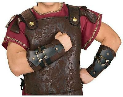 Mens Roman Arm Guards Wrist Cuffs Viking Biblical  Costume Accessory Adult Size