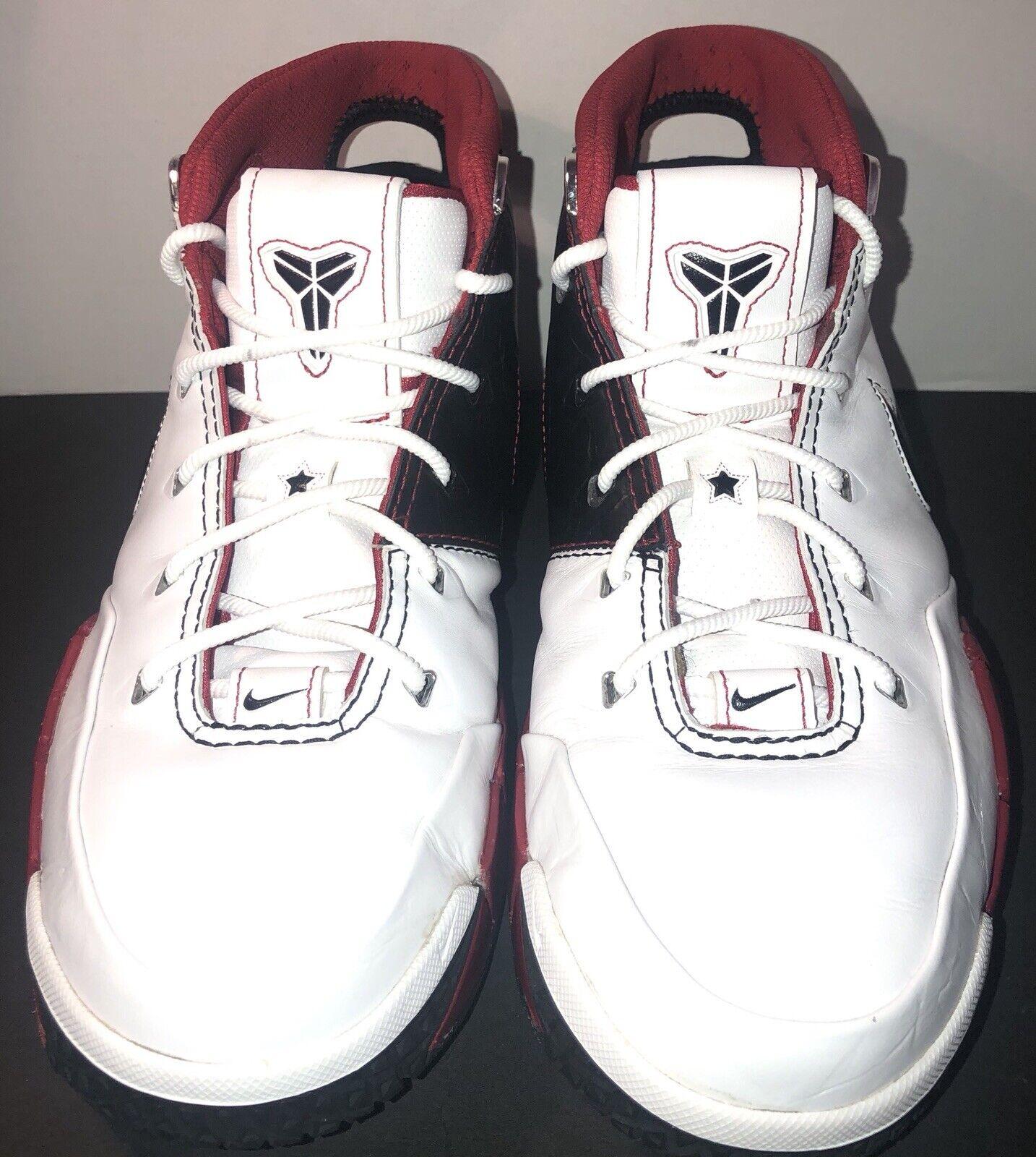 Nike Zoom Kobe 1 White Black Varsity Red  313143101  Size 10.5
