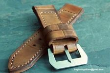 26mm leather strap  (ammo pouch med brown) vintage - ZTRITIUM for Panerai