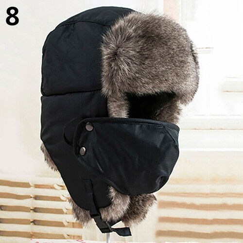 GN New Men Women Winter Russian Hat Trooper Bomber Snow Ski Ushanka War CN/_ FM