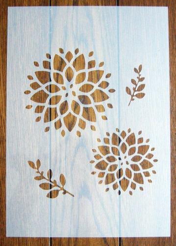 Chrysanthemum Mask Stencil Reusable PP Sheet for Arts /& Crafts DIY