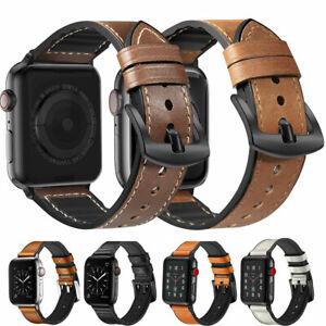 Echt-Leder-Armband-Watch-Band-fuer-Apple-Watch-5-4-3-2-iWatch-40-44-38-42mm-Band