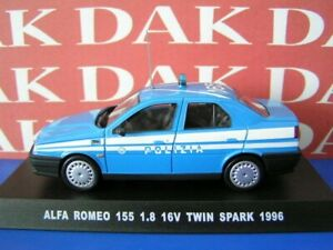 Die-cast-1-43-Modellino-Auto-Polizia-Police-Alfa-Romeo-155-1-8-16V-1996