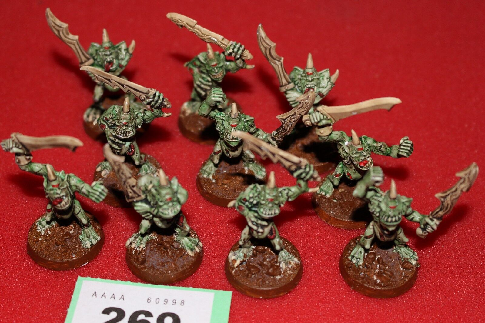 Games Workshop Warhammer Chaos Plaguebearers of Nurgle x10 Sigmar Painted Army C