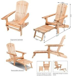 Terrific Details About Adirondack Chair Patio Chairs Wood Outdoor Foldable Garden Wooden Lounge Porch Interior Design Ideas Tzicisoteloinfo