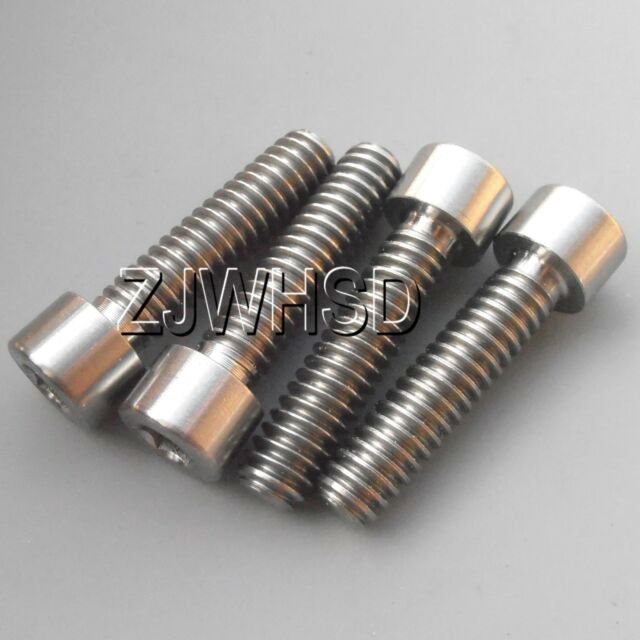 """4pcs 1/4""""- 20 x 1"""" Titanium Ti Screw Bolt Allen Hex Socket Cap Head USA Thread"""