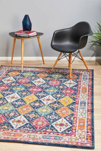 Harper Bohemian 933 Navy Tribal Oriental Multi Colour Floor Rug *FREE DELIVERY*