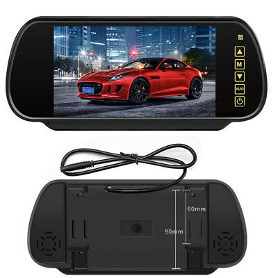 "7/"" LCD Mirror Monitor bluetooth Car Rear View Backup Camera Night Vision USB//TF"