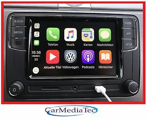 Original-VW-Radio-Freisprechanlage-Apple-CarPlay-RCD330-MIB2G-Golf-5-6-Polo-Eos
