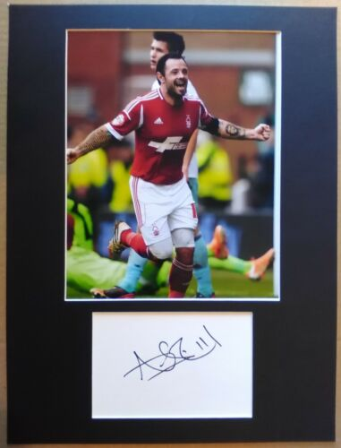 Andy Reid Hand Signed Nottingham Forest Display AFTAL COA Football