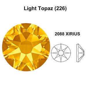 Image is loading LIGHT-TOPAZ-226-Genuine-Swarovski-2058-amp-2088- d85093b6b265