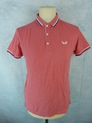 KAPORAL 5 Polo Homme Taille S Rose Manches courtes | eBay