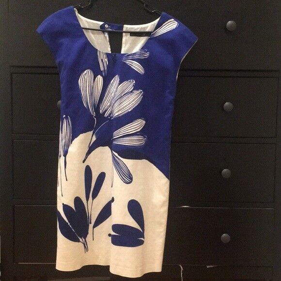 Zara bluee Printed Shift Dress Size MEDIUM BNWT