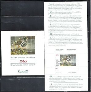 Canada-1985-WILDLIFE-HABITAT-CONSERVATION-BOOKLET-SCOTT-FWH1-VF-MNH-BS13653
