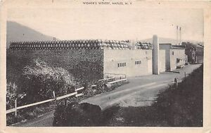 B76-Naples-New-York-NY-Postcard-1948-Widmer-039-s-Winery-Barrels
