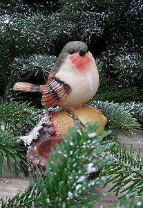 1-niedlicher-Vogel-sitzt-auf-Eichel-Teelichthalter-Herbst-Winter-Geschenk