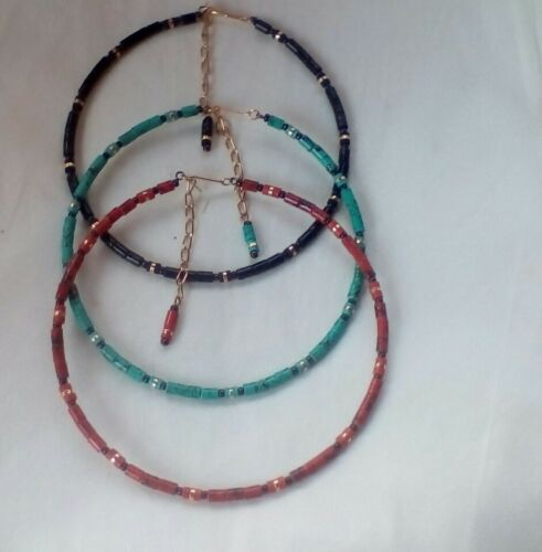 Necklaces Different Colours Fast Delivery. Link Chain Extension 3 Chokers