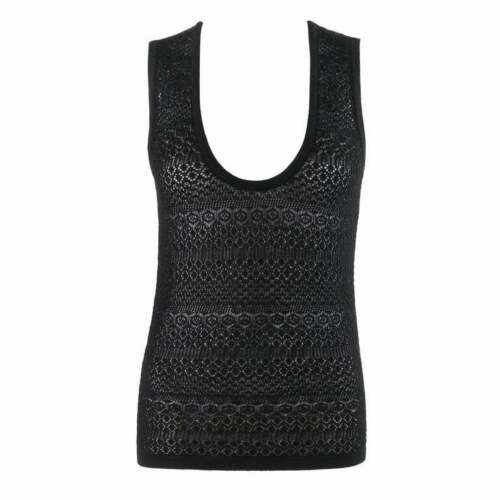 DOLCE & GABBANA c.2000's Black Sleeveless Crochet