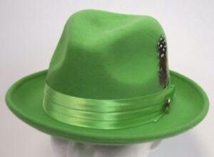 Image is loading Men-039-s-Fedora-Dress-Hat-Mint-Green- 001284478882