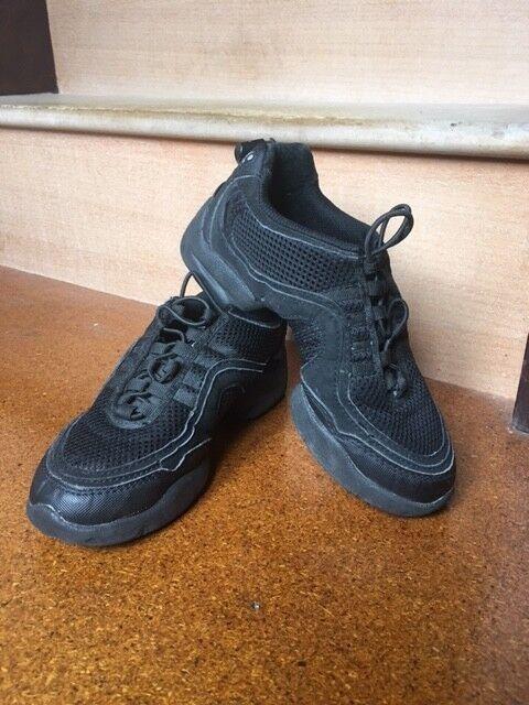 Bloch Girls Boost Drt Mesh Jazz and Modern Dance Shoes Black Size 2.5, Black