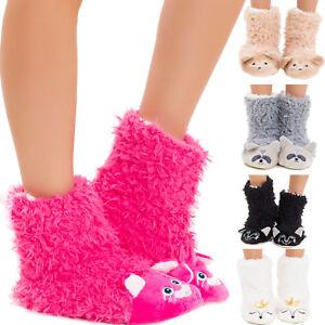 Zapatillas-pantuflas-de-mujer-invierno-kawaii-piel-sintetica-antideslizante