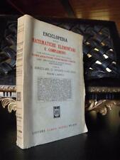 ENCICLOPEDIA DELLE MATEMATICHE ELEMENTARI 2 libro calcolo combinatorio LIBRO