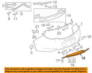 Buick GM OEM 11-16 Regal Front Bumper Grille-License Bracket 13297825