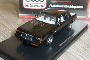 BUICK-GRAND-NATIONAL-1985-BLACK-ERTL-AWR1136-06-AUTO-WORLD-HOBBY-1-43-NOIRE-NOIR