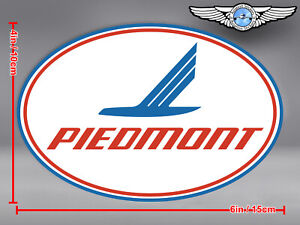 PIEDMONT AIRLINES LOGO OVAL DECAL / STICKER