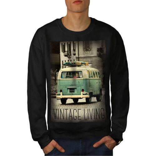 Old Felpa Life uomo Vintage New Truck Black PRRAxSqw5