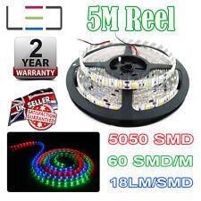 5M 12v RGB LED STRIP LIGHT 5050 300SMD 18LM/SMD 60SMD/m BRIGHT WATERPROOF