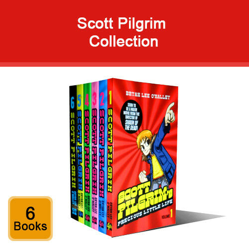 Bryan Lee O'Malley Scott Pilgrim series 6 books collection set NEW brand pack