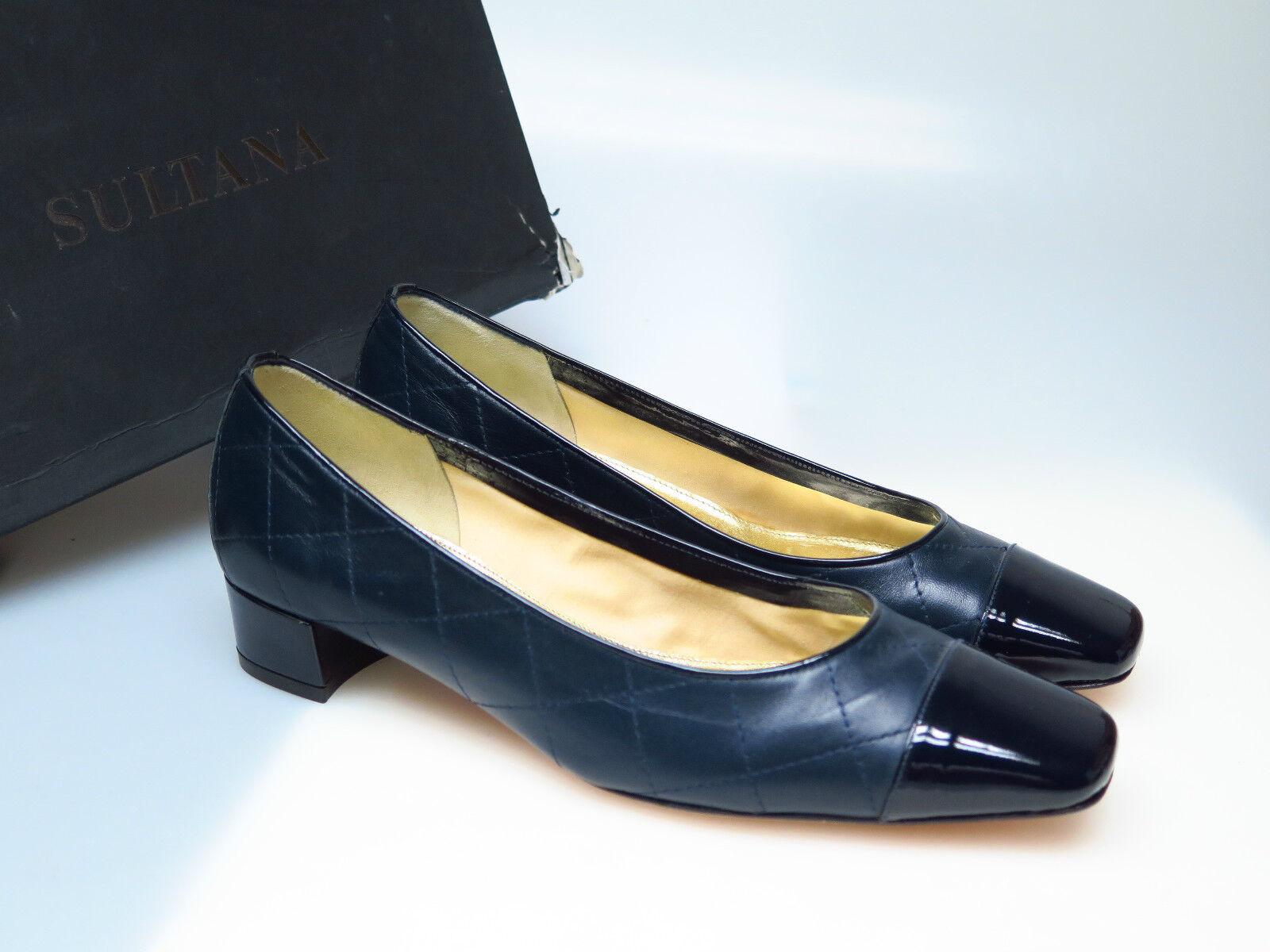 SULTANA Schuhe Designer Damenschuhe N2714 Lucy Nappa Blau Coco Gr. 36,5 NEU