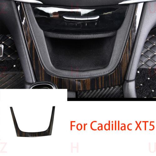For Cadillac XT5 2016-18 Black Wood Grain U-shaped Cover Central Dashboard Trim