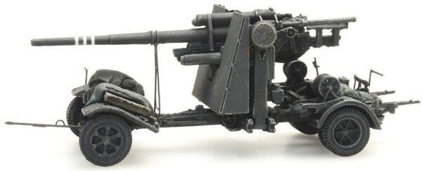 HO Roco Minitanks 7th Panzer Army 88mm Artillery Gun  A268.6870069 Hand Painted