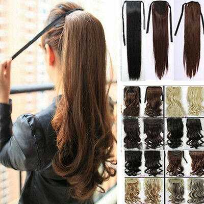 Uk Stock Deluxe clip in ponytail hair extensions piece Wrap Around Ponytail Hair