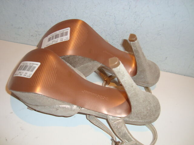 BCBGeneration BCBG Generation Damenschuhe NWOB Pennee Silver Sandales Schuhes 7.5 M NEU