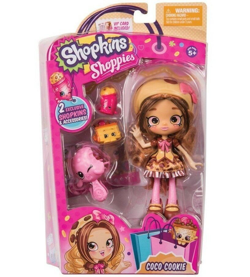 Shopkins Shoppies Coco Cookie Doll Figure  NEW