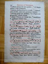 Antiphonar Notenblatt Musik ca. 17.Jahrhundert dominica ad matutinum
