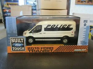Prisoner Transport Van >> Details About Greenlight 2015 Ford Transit Police Prisoner Transport Van 1 43