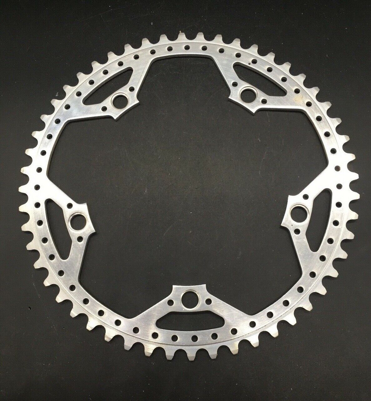 VINTAGE DRILLED CHAINRING 52T BCD 144 FOR CAMPAGNOLO NUOVOSUPER RECORD NOS