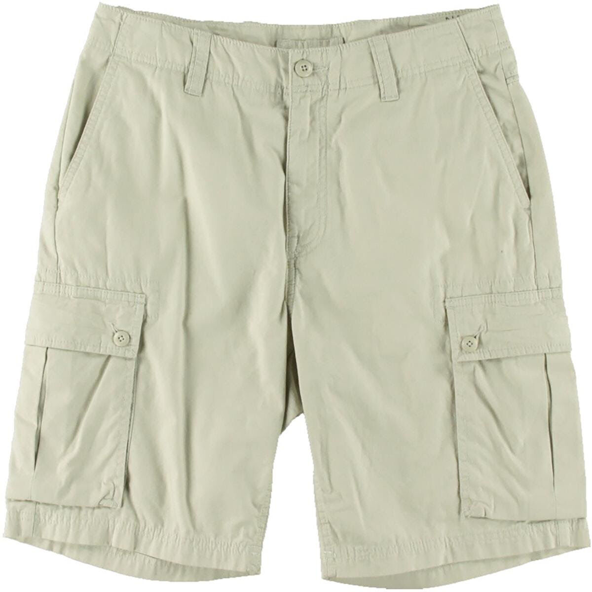 24fab50825c6 Nautica Cargo Shorts Modern Fit Stone Adjustable Cotton Size 30 NEW Mens