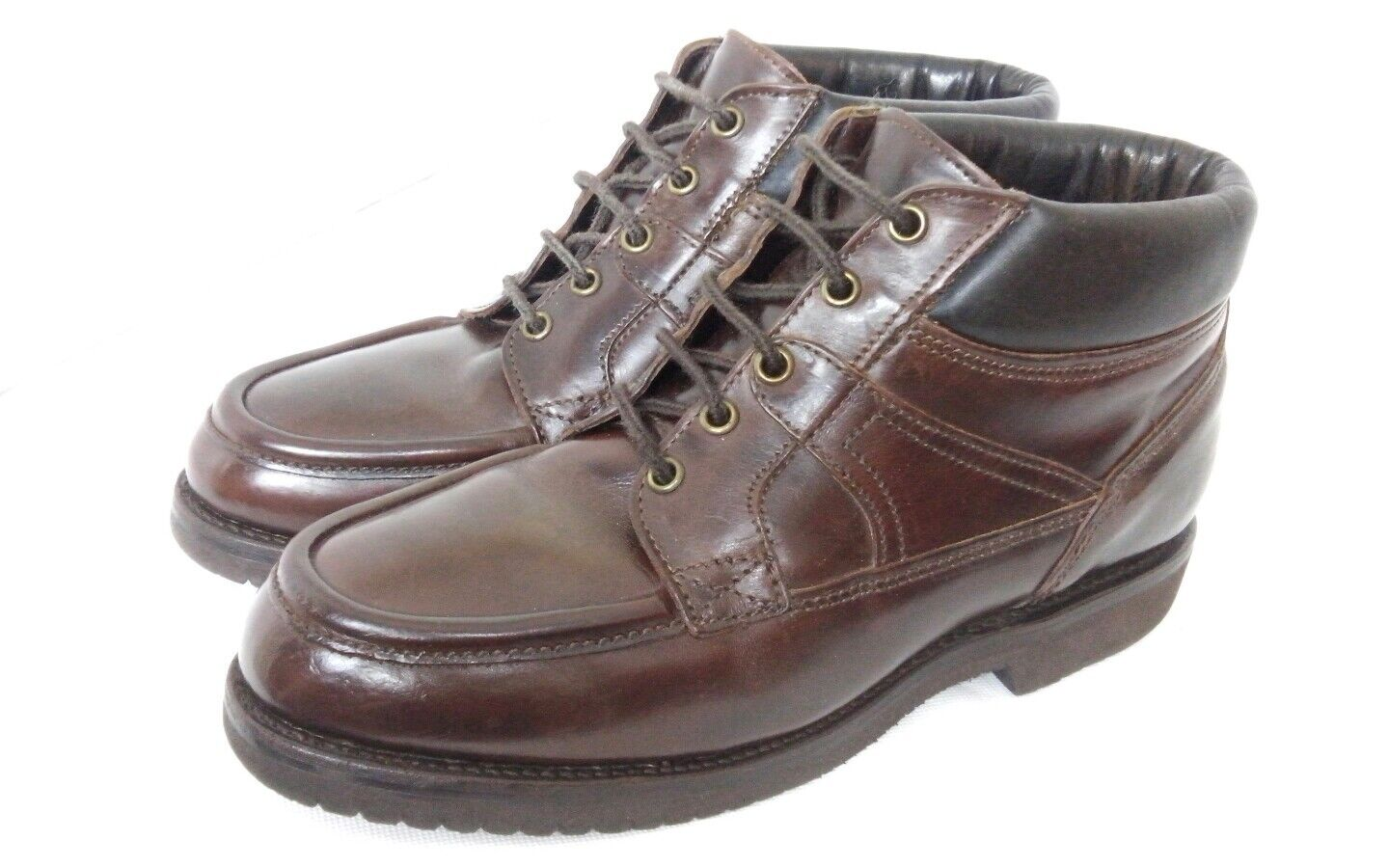 Allen Edmonds braun Leather Stiefel Vibram sole US 7 Extra Wide Fit like UK 6.5 7