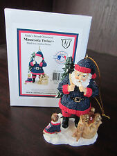 MINNESOTA TWINS Santa's Friend Ornament NEW In BOX CHRISTMAS Memory Company