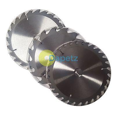 "6 1//4/"" 3 Circular Saw Blades 160mm Dia  30mm Bore 10 16 /& 20 mm Reduction Ring"